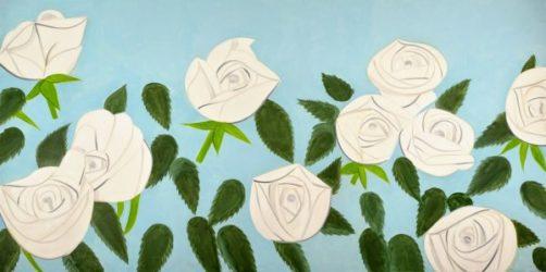White Roses by Alex Katz at