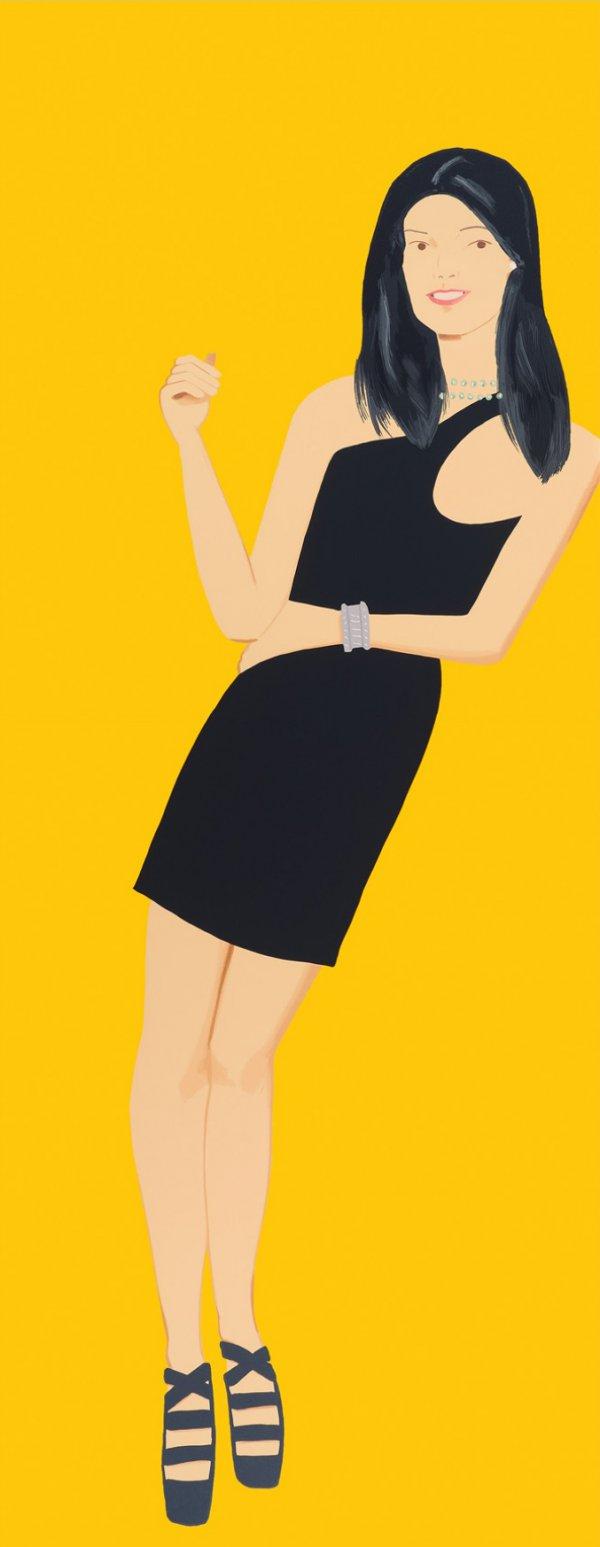 Yi (from Black Dress Series) by Alex Katz