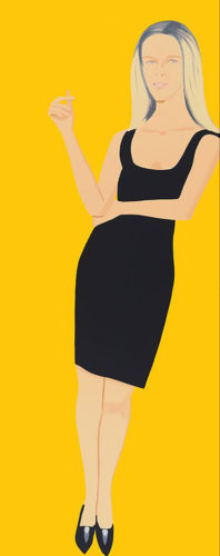 Yvonne (from Black Dress Series) by Alex Katz