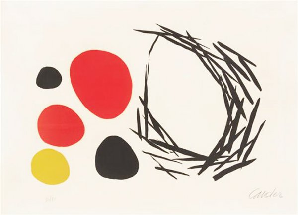 Eggs Outside The Nest by Alexander Calder