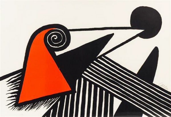 Phrygian Hat And Iron Bars by Alexander Calder