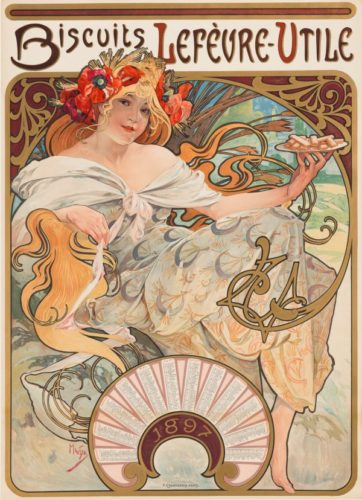 Biscuits LefÈvre-utile by Alphonse Mucha at