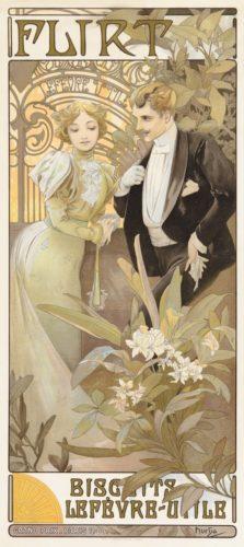 Flirt Biscuits by Alphonse Mucha
