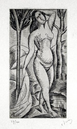 Baigneuse Nue Aux Arbres (nude Bather Amid Trees) by Andre Derain at