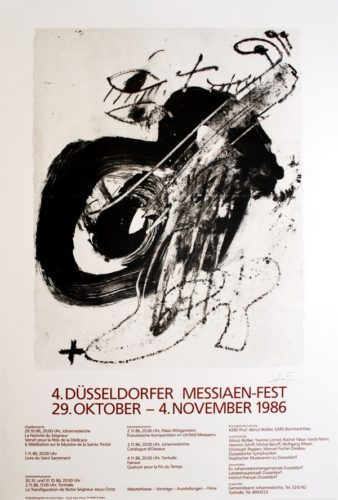4. Düsseldorfer Messaien-fest by Antoni Tapies