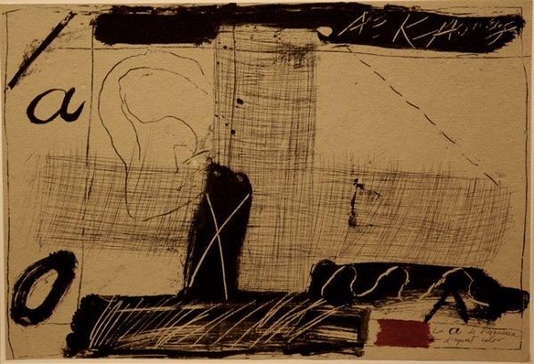 Llambrec Material by Antoni Tapies