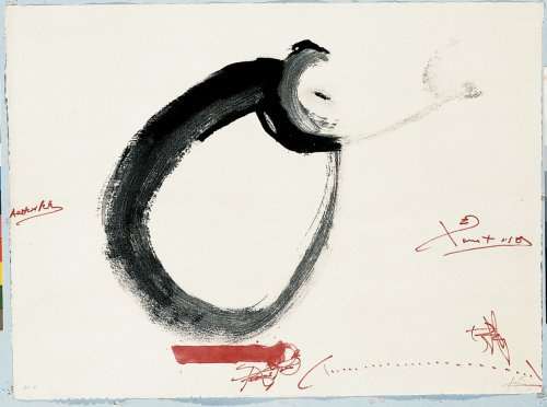 Lletra O by Antoni Tapies