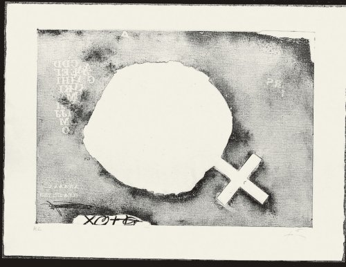 Paper Cremat by Antoni Tapies