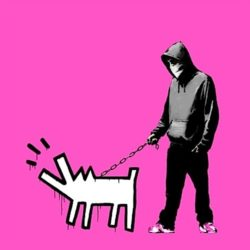 Choose Your Weapon (bright Pink) by Banksy at