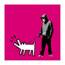 Choose Your Weapon (magenta) by Banksy at