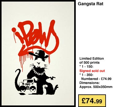 Gangster Rat by Banksy