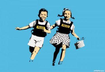 Jack & Jill (signed) by Banksy at Lieberman Gallery