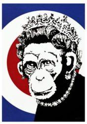 Monkey Queen by Banksy at Lieberman Gallery