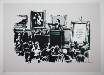 Morons (unsigned) by Banksy at Lieberman Gallery