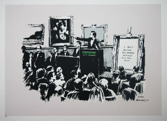 Morons (unsigned) by Banksy