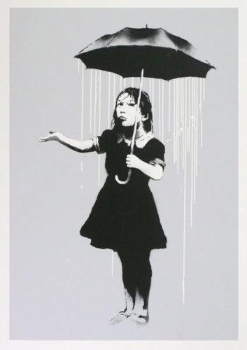 Nola (white Rain) by Banksy