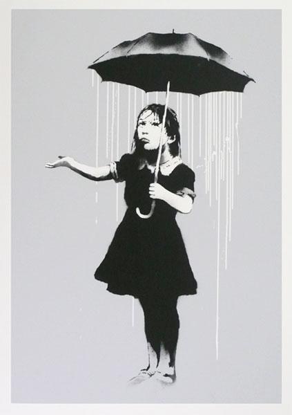 Nola (white Rain) by Banksy