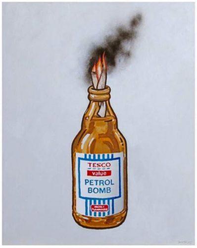 Petrol Bomb by Banksy
