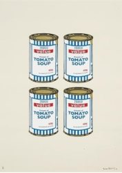 Soup Cans (quad) by Banksy at Lieberman Gallery