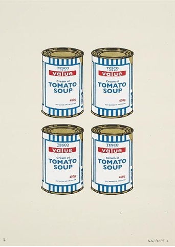 Soup Cans (quad) by Banksy