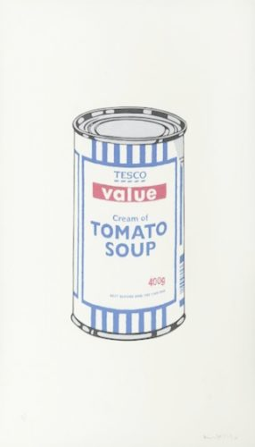 Tesco Soup Can (signed) by Banksy at Lieberman Gallery