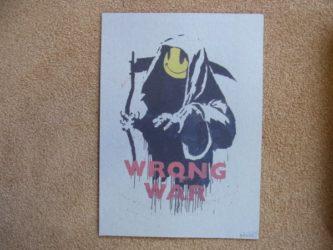 Wrong War by Banksy at