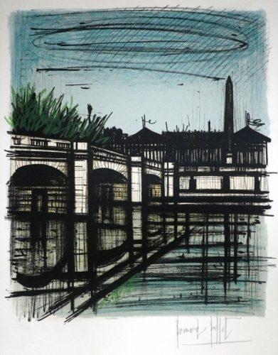 Pont De La Concorde by Bernard Buffet at ModernPrints.co.uk