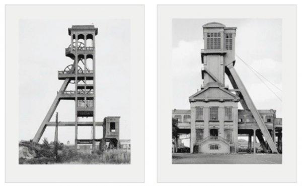 Zwei Fördertürme by Bernd & Hilla Becher at