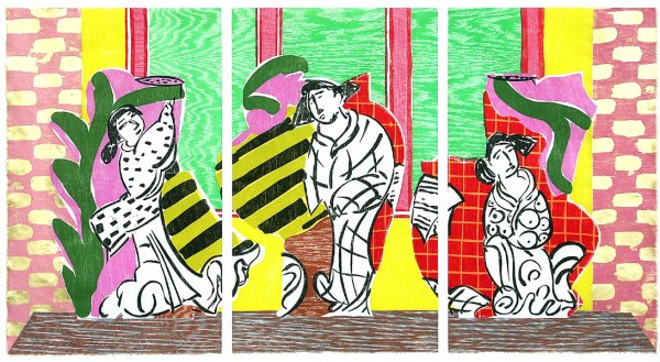 """picking Plum Blossoms"" by Betty Woodman"