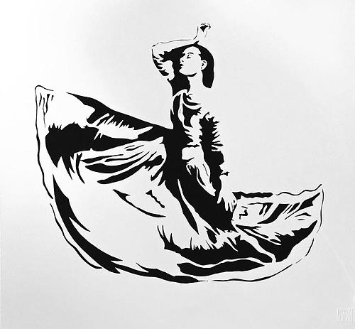 Dancer by Blek Le Rat at