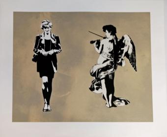 Diana & Angel by Blek Le Rat at