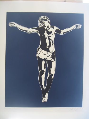 Jesus Blue by Blek Le Rat at