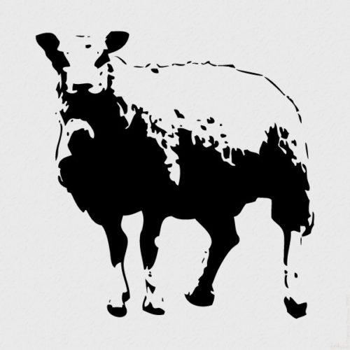Sheep by Blek Le Rat at