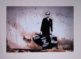 The Man Who Walks Through Walls by Blek Le Rat