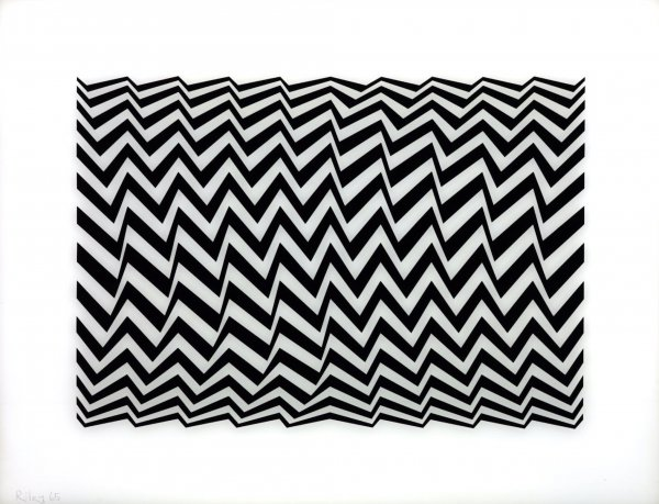 Untitled (fragment 3) by Bridget Riley at Lyndsey Ingram