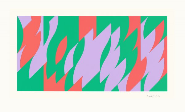 About Lilac by Bridget Riley at Sims Reed Gallery (IFPDA)