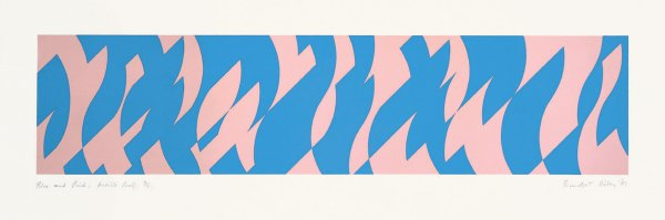 Blue And Pink by Bridget Riley at