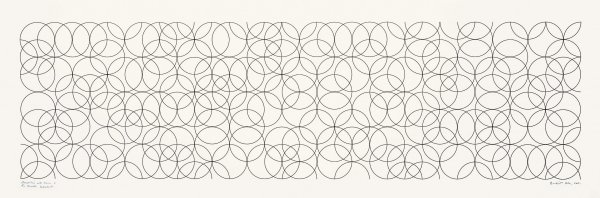 Composition With Circles 2 by Bridget Riley at