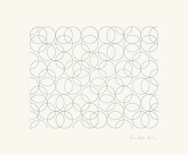 Composition With Circles 5 by Bridget Riley at
