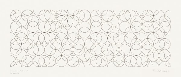 Composition With Circles 7 by Bridget Riley at