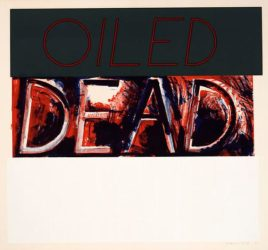 Oiled Dead by Bruce Nauman at Susan Sheehan Gallery