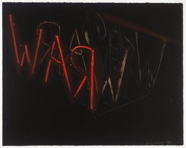 Raw War by Bruce Nauman at