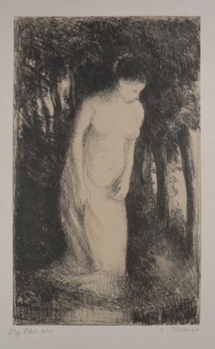 Baigneuse Près D'un Bois by Camille Pissarro at