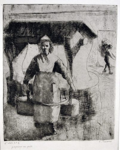 Paysanne Au Puits (peasant Woman At The Well) by Camille Pissarro at Camille Pissarro