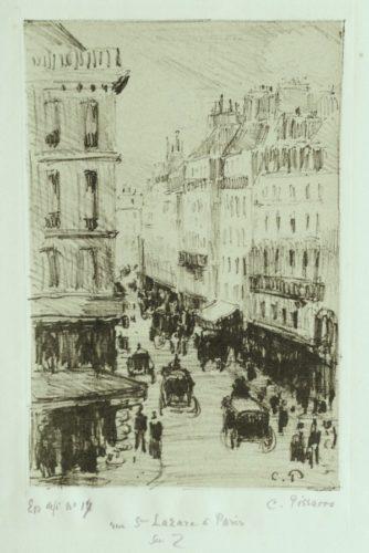 Rue Saint-lazare à Paris by Camille Pissarro at