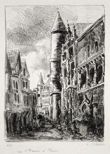 Rue Saint-romain, à Rouen by Camille Pissarro at