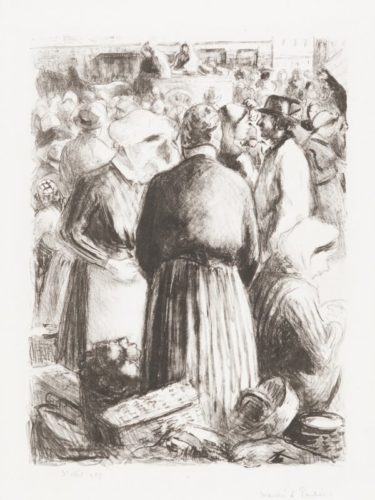 The Market At Pontoise by Camille Pissarro