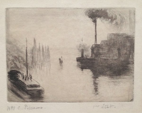 L'île Lacroix, à Rouen by Camille Pissarro at