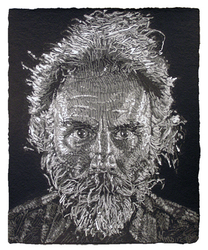 Lucas/paper Pulp by Chuck Close at