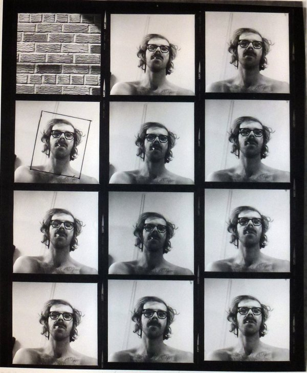 Untitled (self-portrait Contact Sheet) by Chuck Close